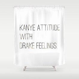 Hip Hop Attitude Poster Shower Curtain