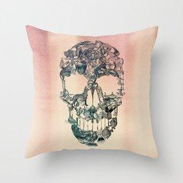 Skull Vintage Throw Pillow