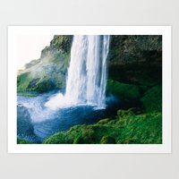 waterfall Art Prints featuring Waterfall by StayWild