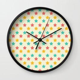 Summer Stars Wall Clock