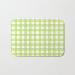 Green gingham pattern Bath Mat