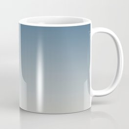 Blue & Linen White Gradient Ombre Blend Pairs To 2020 Color of the Year Chinese Porcelain PPG1160-6 Coffee Mug