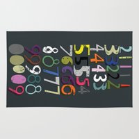 numbers Area & Throw Rugs featuring Numbers by Arken25