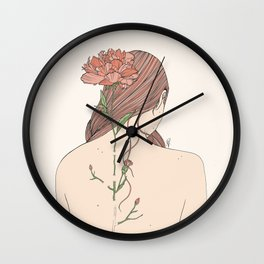 Let Me Blossom Wall Clock