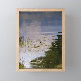 Impressionist Florida Lake View Framed Mini Art Print