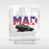 mad max Shower Curtains featuring Mad Max  poster by danimo