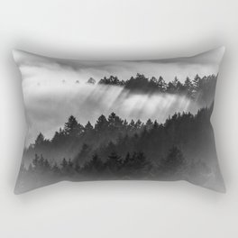 Fog Invasion, San Francisco Bay Area Rectangular Pillow
