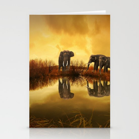 The Herd (Elephants) Stationery Cards