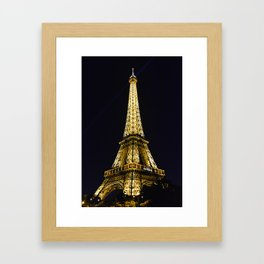 Golden Eiffel Tower Framed Art Print