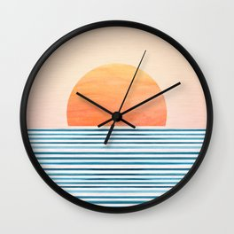 Morning in Paradise ~ Tropical Sunrise Wall Clock