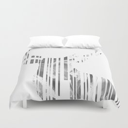 Geometric black Stag Duvet Cover