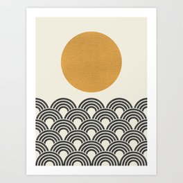 Sun & Wave - Oriental Pattern Art Print