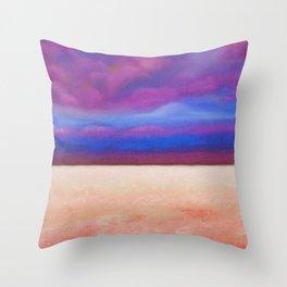 Red Salt Desert / Pastel Drawing Throw Pillow