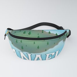 Anafi Greece travel map. Fanny Pack