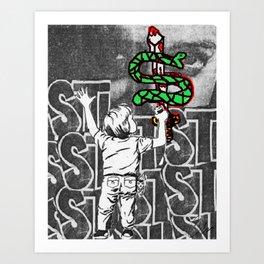 Graffiti Snake Sword '16 Art Print