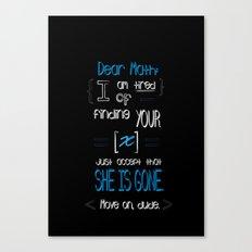 Dear Math (blue)  Canvas Print