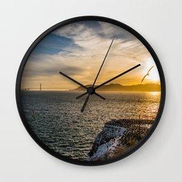 San Fran Sunset Wall Clock