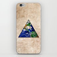 all seeing eye iPhone & iPod Skins featuring All Seeing Eye by Spooky Dooky