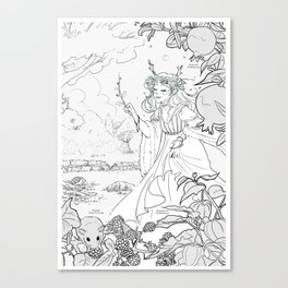 Autumn Queen Canvas Print