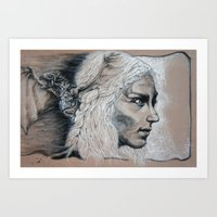 mother of dragons Art Prints featuring Mother by Clayton Young