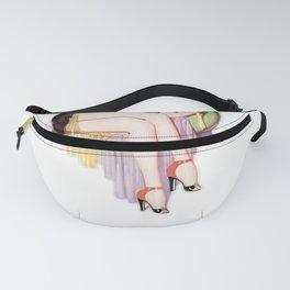 Nostalgic Pin Up Girls Vain Woman Looking in Mirror Bachelor Party Pinup Girl Fanny Pack