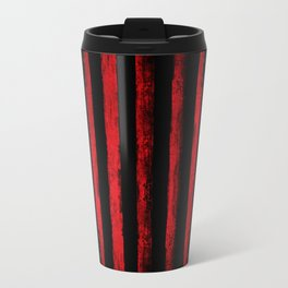 Vintage Red Lines Travel Mug