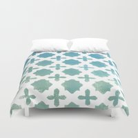 monogram Duvet Covers featuring Monogram by Chilligraphy