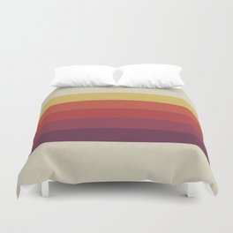 Retro Video Cassette Color Palette Duvet Cover