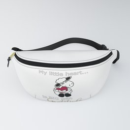 Christian Design - My Little Heart is Big with Gratitude - Psalm 107 Fanny Pack