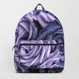 PURPLE ROSES floral flowers violet Backpack