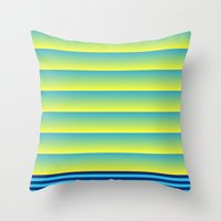 bands Throw Pillows featuring Bands by HELLO MART