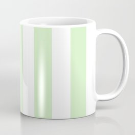Tea green - solid color - white vertical lines pattern Coffee Mug