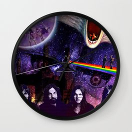 PinkFloyd Collage Wall Clock