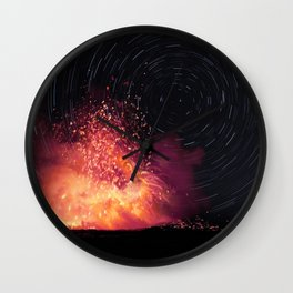 Kilauea Volcano Eruption. Wall Clock