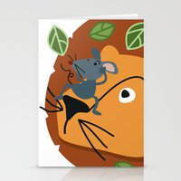 leon Stationery Cards featuring Mouse&Leon by Lara Savoia