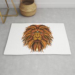 Lion Mandala Illustration Rug