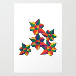 Hexagon Explosion Art Print