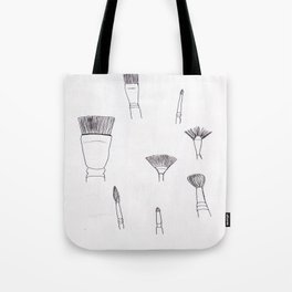 Paintbrushes Tote Bag