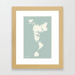 Dymaxion Map of the World Framed Art Print