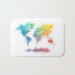 World Map splash 2 Bath Mat