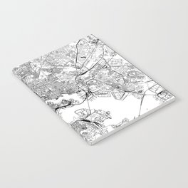 Baltimore White Map Notebook