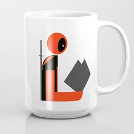 Dead Gentleman Reads Coffee Mug