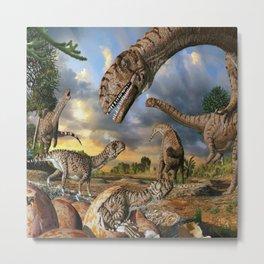 Jurassic dinosaurs being born Metal Print