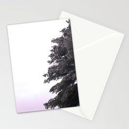 Icy Pine Tree Stationery Cards