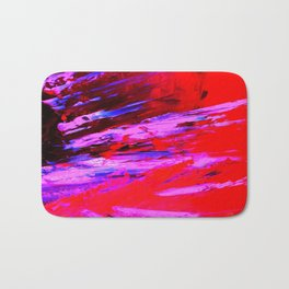 Abstract Shrapnell II by Robert S. Lee Bath Mat