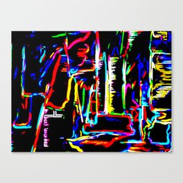 The Wired City Canvas Print