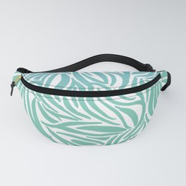Turquoise Zebra print Fanny Pack