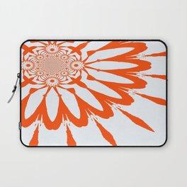 The Modern Flower White & Orange Laptop Sleeve