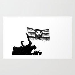 Kanaka Maoli Flag Art Print