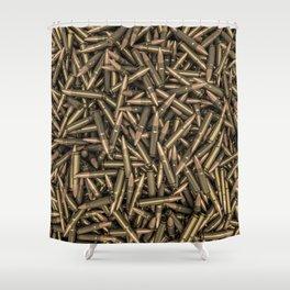 Rifle bullets Shower Curtain